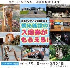 福岡県大牟田市 宿泊とレジャーをセットにしたプラン開始