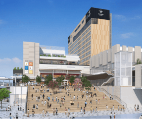 宇都宮駅東口にホテルなど複合施設誕生へ、2022年夏